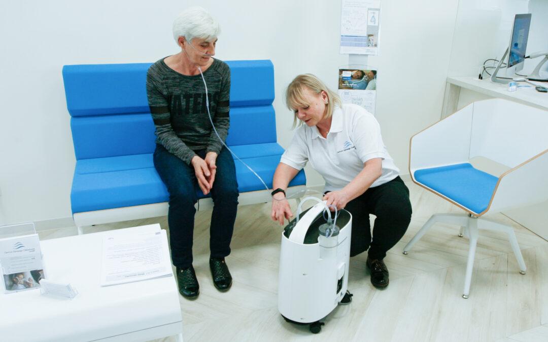 Domowe leczenie tlenem z użyciem koncentratora tlenu