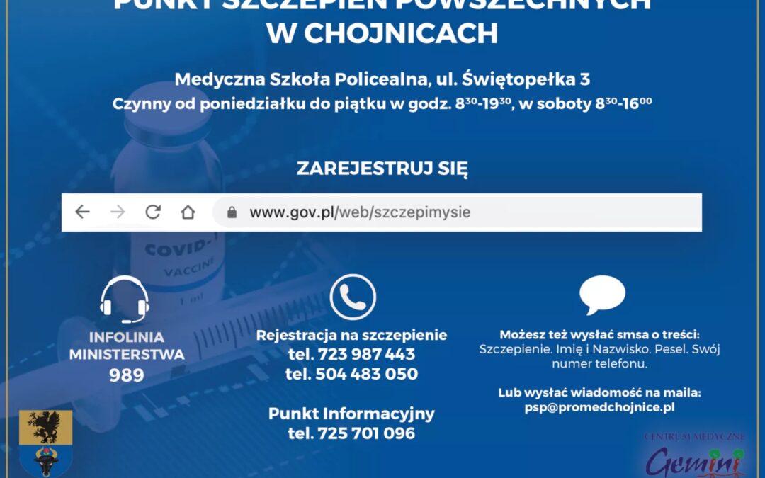 Punkt Szczepień Powszechnych w Chojnicach